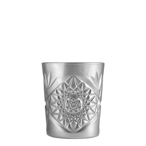 Double Old Fashioned Glas (Hobstar Silber 355ml)