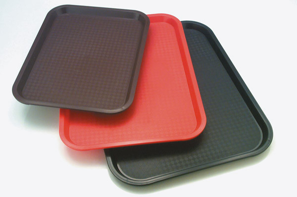 Fast Food-Tablett 45 x 35,5 cm, H: 2 cm Polypropylen, braun