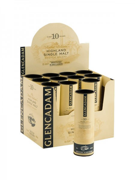Glencadam Highland Single Malt Whisky 10 Years unchillfiltered Miniatur (0,05l)